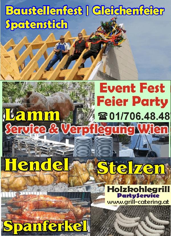 baustellenfest Party Spatenstich Richtfest Dachgleiche Wien Catering Event